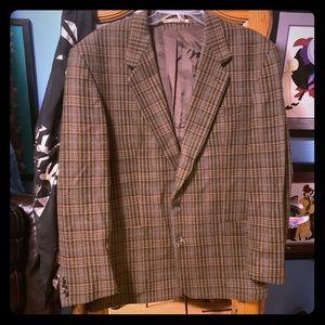 Men's brown and green vintage corduroy blazer